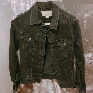 All Saints Black Jean Jacket